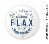 round label with type design... | Shutterstock .eps vector #574823578