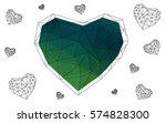 dark green  yellow vector... | Shutterstock .eps vector #574828300