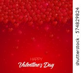 happy valentine's day lettering ... | Shutterstock . vector #574829824