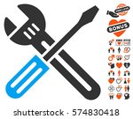 spanner and screwdriver icon... | Shutterstock .eps vector #574830418
