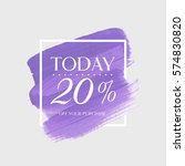 sale today 20  off sign over... | Shutterstock .eps vector #574830820