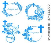 cross icons set. decorated... | Shutterstock .eps vector #574832770