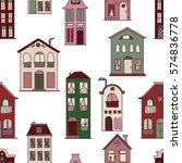 seamless pattern with cute... | Shutterstock .eps vector #574836778