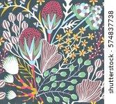 floral seamless pattern. hand... | Shutterstock .eps vector #574837738