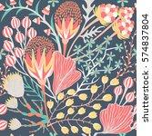 floral seamless pattern. hand... | Shutterstock .eps vector #574837804