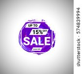 sale up to 15  off banner sign... | Shutterstock .eps vector #574839994