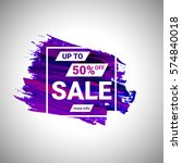 sale up to 50  off banner sign... | Shutterstock .eps vector #574840018