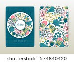 Cover Design With Floral...