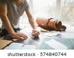 closeup portrait of... | Shutterstock . vector #574840744