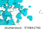 abstract happy valentines day... | Shutterstock . vector #574841740