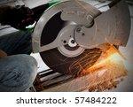 worker cutting steel | Shutterstock . vector #57484222