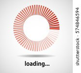 loading icon. indicator for... | Shutterstock .eps vector #574846594