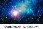 deep space. high definition... | Shutterstock . vector #574851394