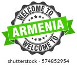 armenia. welcome to armenia... | Shutterstock .eps vector #574852954