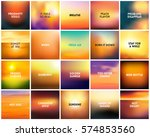 big set of 20 square blurred... | Shutterstock .eps vector #574853560