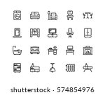 furniture icon set  outline... | Shutterstock .eps vector #574854976