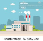industrial factory in flat... | Shutterstock .eps vector #574857220