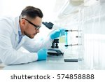 side view of modern scientist...   Shutterstock . vector #574858888