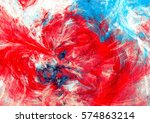 bright red  blue and white... | Shutterstock . vector #574863214