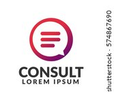 consulting agency logo.... | Shutterstock .eps vector #574867690