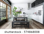 Bright Kitchen In White And...