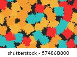 seamless pattern. disorderly... | Shutterstock .eps vector #574868800