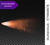 a bright comet with large dust... | Shutterstock .eps vector #574868878
