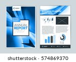 annual report cover design... | Shutterstock .eps vector #574869370