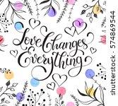 inspiring lettering black on... | Shutterstock . vector #574869544
