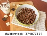 Chocolate Cereal In A Plate....