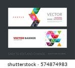 vector set of modern horizontal ... | Shutterstock .eps vector #574874983