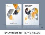 business vector template.... | Shutterstock .eps vector #574875103