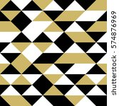 black  white and gold triangles ... | Shutterstock .eps vector #574876969