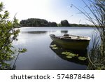 Small Wooden Rowing Boat On...
