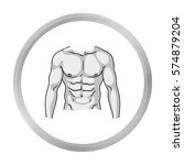 muscular torso icon in... | Shutterstock .eps vector #574879204
