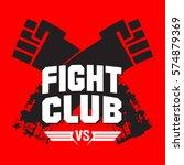 sign fight club. vector...   Shutterstock .eps vector #574879369