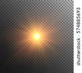 sun vector on transparent...   Shutterstock .eps vector #574885693