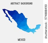 mexico in geometric polygonal... | Shutterstock .eps vector #574888450