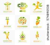 natural food logo templates.... | Shutterstock .eps vector #574890538