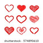 hand drawn  brush stroke and... | Shutterstock .eps vector #574890610
