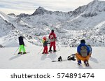 looking to the pyrenees from... | Shutterstock . vector #574891474