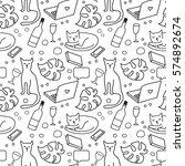 seamless pattern a strong... | Shutterstock .eps vector #574892674