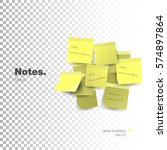 yellow sticky note isolated on... | Shutterstock .eps vector #574897864