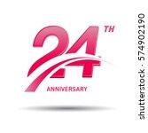24 years pink anniversary.... | Shutterstock .eps vector #574902190