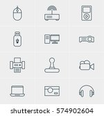 vector illustration of 12... | Shutterstock .eps vector #574902604
