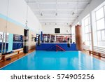 interior of a boxing hall | Shutterstock . vector #574905256