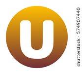 letter u sign design template... | Shutterstock .eps vector #574907440