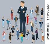 businessman big boss leader...   Shutterstock .eps vector #574910530