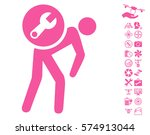 service courier pictograph with ... | Shutterstock .eps vector #574913044