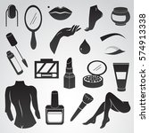 beauty  woman  make up vector...   Shutterstock .eps vector #574913338